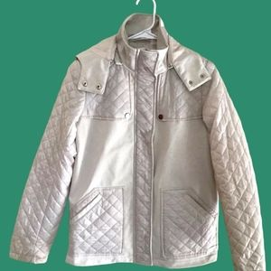 Kenneth Cole New York Quilted light Jacket W/ Hood